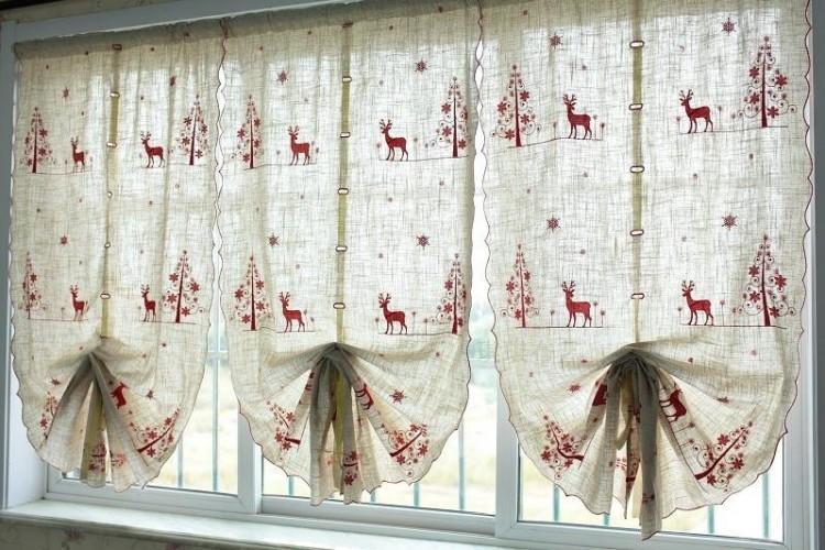 Как оформить кухню своими руками шторы
